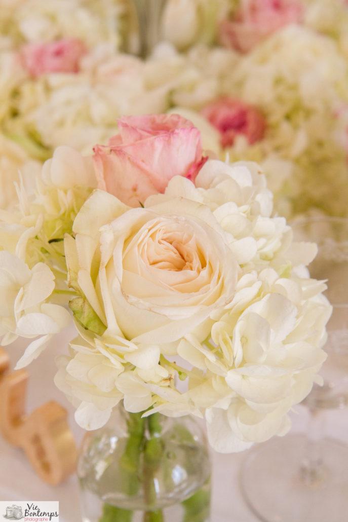 décoration rose mariage