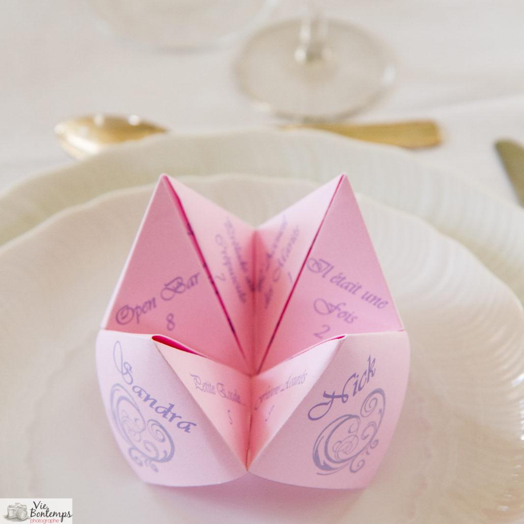 cocotte en papier menu